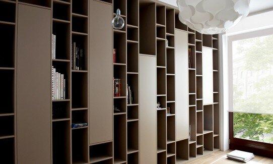 2012, zabudowa biblioteki, wzór wykonany wg projektu