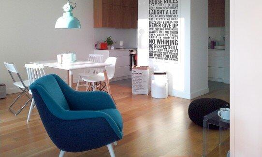 2013, wnętrze apartamentu w stylu nowoczesnym