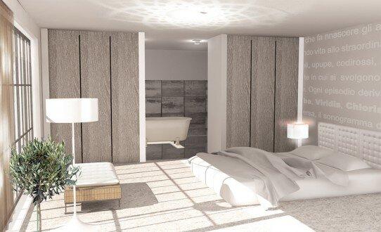 2010, projekt sypialni w domu jednorodzinnym
