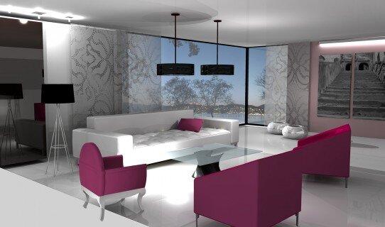 2008, projekt wnętrz salonu
