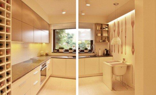 2014, aranżacja kuchni w domu jednorodzinnym