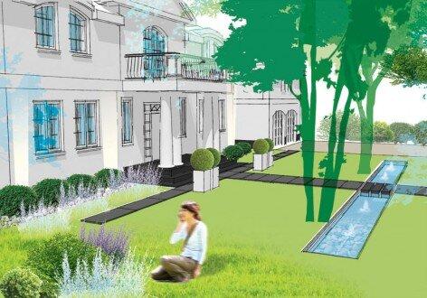 2010, projekt części frontowej ogrodu