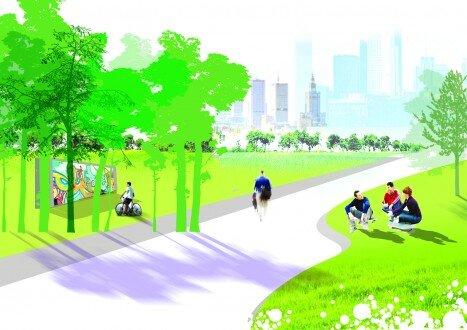2009, projekt alei w parku miejskim
