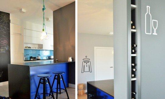 2014, aranżacja salonu i kuchni