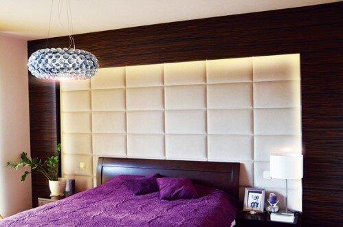2012, sypialnia, projekt ściany tapicerowanej