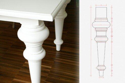 2012, stół na zamówienie, wzór wykonany wg projektu