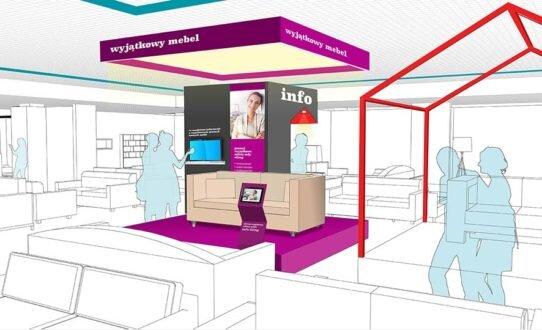 2016, modernizacja wnętrz sieci salonów meblowych marki BRW